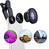 Three great lenses in one kit: The fisheye, macro and wide angle lenses give you an array of shooting options to help you enhance your mobile photography. Wide angle Lens : The Wide angle lens (0.67X) will allow you to capture what was once too large...