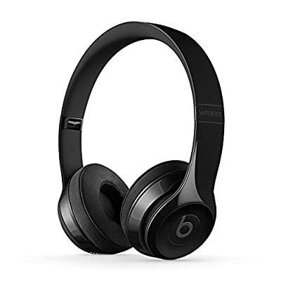 Beats Solo3 Wireless On-Ear Headphones - Apple W1 Headphone Chip, Class 1 Bluetooth, 40 Hours Of Listening Time - Gloss Black (Previous Model) by APBX9