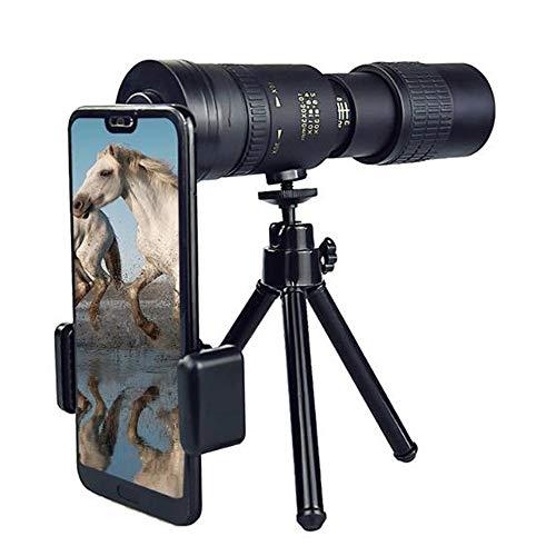 One plus one Telescopio para Niños Y Adultos, Telescopio Monocular con Zoom Súper Teleobjetivo 4K 10-300X40 Mm con Trípode Y Clip Accesorios para Teléfonos Móviles
