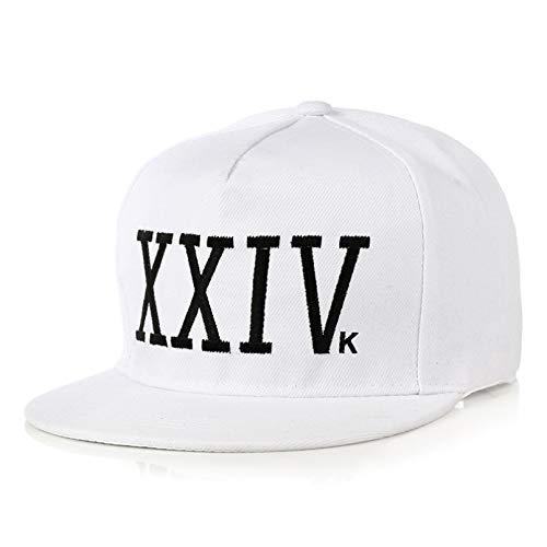 JKYJYJ Baseballmütze Marke Unisex Bruno Mars Baseballmütze 24K Magic Gorras K-Pop Baumwolle Bone Rapper XXIV Papa Hut Hip Hop Snapback Sun Caps Casquette