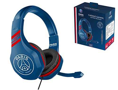 Subsonic Casque Gaming avec micro pour Playstation 4 - PS4 Slim - PS4 Pro - Xbox One - PC - Edition accessoire gamer club PSG Paris Saint Germain
