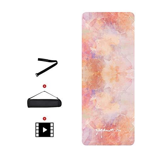 Barture Yoga Mat Nat En Droog Antislip Bring Rugzak Met Video Tutorial Dikte 5mm Natuurlijke Rubber Fitness Mat 183x68cm