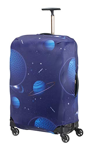 Samsonite Global Travel Accessories - Funda para Maleta en Lycra, L, Azul (Spaceman)