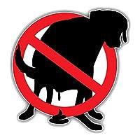 車 ステッカーデカール-警告車ステッカースツール犬禁止標識デカールトラックオートバイカーアクセサリー装飾PVC13cmx13cm