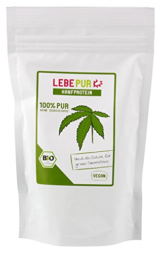 Lebepur Hanfprotein Pulver (1x 175g) (bio, vegan, glutenfrei, roh)