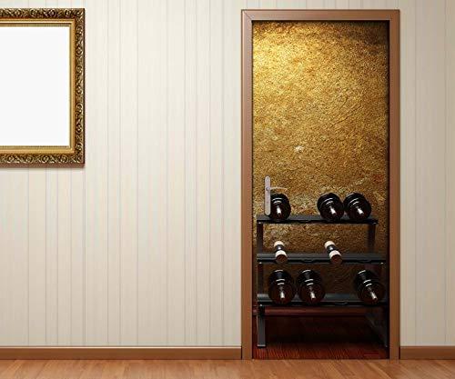Türaufkleber Fitness Hanteln Boxsack Sport Kat8 retro Tür Aufkleber Bild Türposter Türfolie Druck selbstklebend 15B762, Türgrösse:67cmx200cm