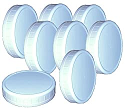 commercial Reusable wide neck plastic can lid, 8 pieces, support (height 3.62 Ø0.75 ) mainstay mason jars