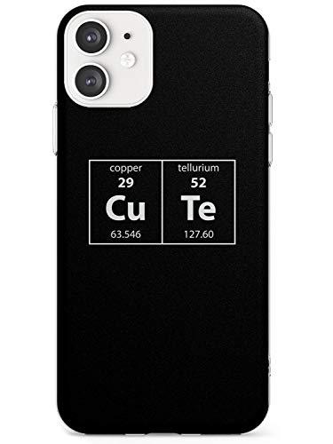 Case Warehouse El Elemento Lindo: Negro Estuche Delgado para iPhone 11   Claro Silicona TPU Protector Ligero Ultra Thin Cubrir Patrón Impreso   Científico Periódico Mesa Elementos Nerdy