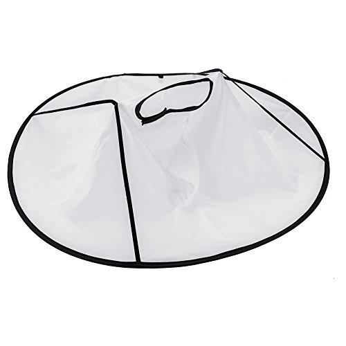 Kapsel Mantel-Omgekeerde paraplu vorm ontworpen ronde stropdas haak-en-lus kapsel mantel geschikt voor kapper salon of thuis (wit, zwart) Aantal: 1 stuks.