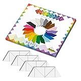 CreativaMente - Tarjetas precortadas y con guías de Plegado para Hacer Origami 3D, Color Blanco, 852