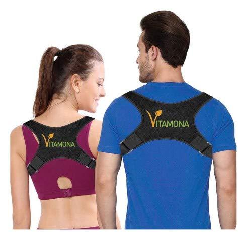 Vitamona Rücken Geradehalter Rückengurt Rückensupport Rückenstrecker Rückentrainer für eine gesunde Körperhaltung Schmerzlinderung Größe M Versand aus Deutschland