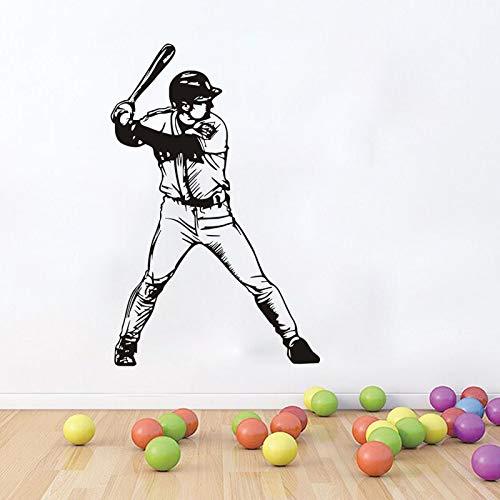 mlpnko Baseball Vinyl wandaufkleber abnehmbare Kunst Aufkleber Baseball Player Junge Familie Dekoration Wohnzimmer Bild Wand 102x158 cm