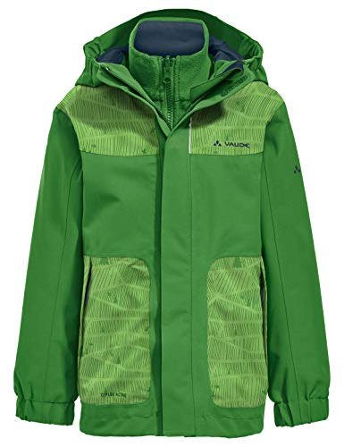 VAUDE Kinder Kids Campfire 3in1 Jacket IV Doppeljacke, Parrot Green/Eclipse, 92