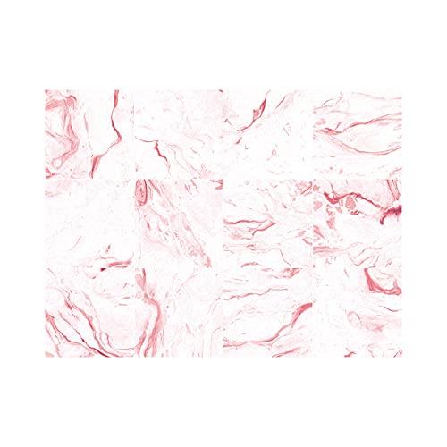 Etiquetas Engomadas Del Azulejo Auto Adhesiva Pared Para La Decoración Casera de Pegatinas Pared Impermeables Cocina Pegatinas SueloPatrón de piedra rosa 30 X 30cm(5pcs)