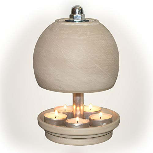 HP-TLO-Serie-K-W-L-23/13-5 Kerzen, Teelichtlampe Teelichthalter Teelichtofen Stövchen Meditationszubehör Kerzenhalter Teelichter + Feuerzeug GRATIS