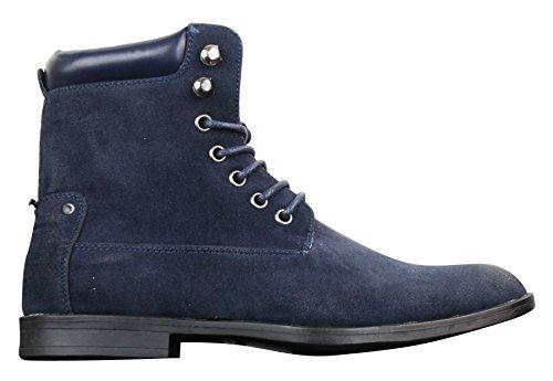 Galax Bottines Homme Simili Daim Nubuck Style Cowboy Vintage Boots Marche Randonnée Tendance
