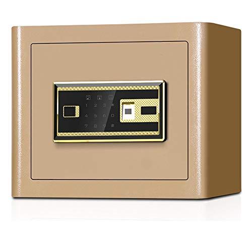 Kabinettsafes Mit Digital-Tastatur Steel Construction Mini-Fingerabdruck-Safe for Home Office Hotels für den Einsatz zu Hause oder im Büro (Color : Gold A, Size : 38X30X30CM)