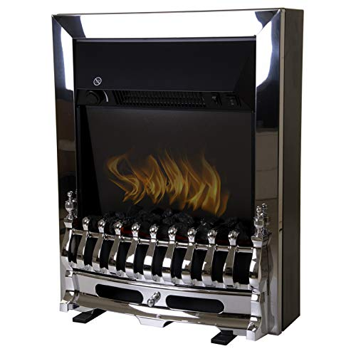 Marko heating 2000W Electric Fireplace Heater Fire Flame Effect Inset Freestanding Silver