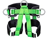 A&BG Half Body Climbing Harness Outdoor Rock Climbing Mountaineering Rappelling Safety Belt Harness