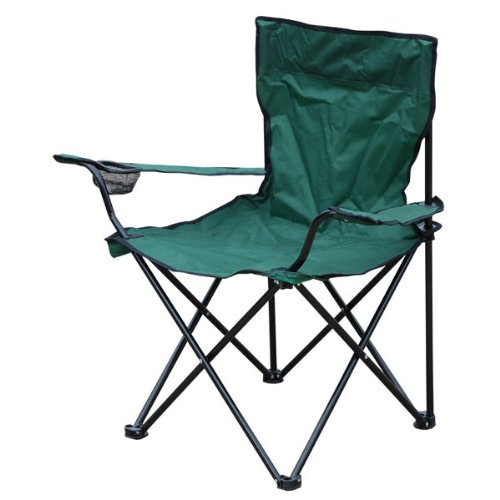 Milestone 1 Seater Folding Fishing Camping Chair with Cup Holder and Carry Bag Color May Vary