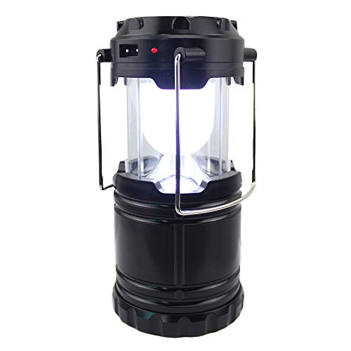 Comforday Mpteck @Solar Light - Lámpara de Camping Recargable portátil para Tiendas de Interior, Reparaciones de Emergencia, etc.