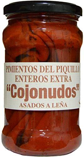 Pimientos Del Piquillo Enteros Extra. Asados a la Leña. Producto de España. Peso Neto. 290 Gr. (Pack de 3 botes).