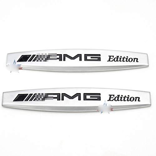 ASDNN 2 Piezas Car Labe Sticker Side Fender Sticker Decal AMG Edition Logo para Mercedes Benz E63 W212 W213 W210 W202 W204 W220 W117 GLA CLA CLS