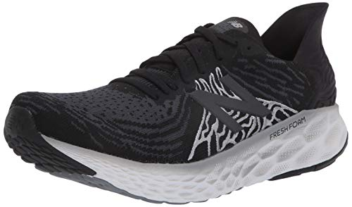 New Balance Men's Fresh Foam 1080 V10 Running Shoe, Black/Steel, 10.5 XW US