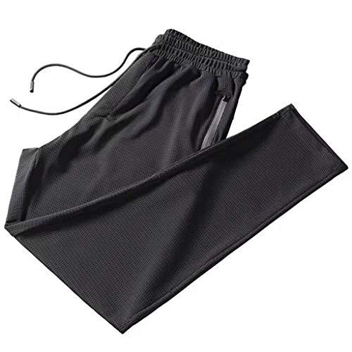 HHosmer Herren Track Running Sport Sporthose, Leichte, atmungsaktive Sommerhose mit elastischer Taille und lockerer Hose