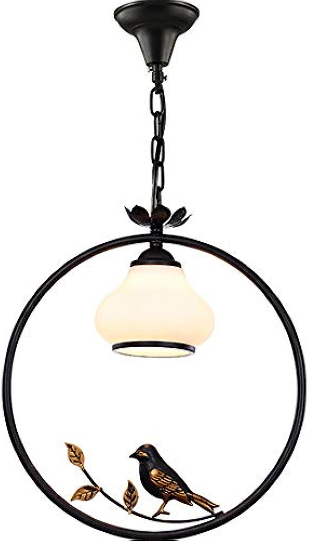 DZHYB Retro Bird Chandelier Creative Individuality Flurlampe 1x E27 Sockel (Schwarz) [Energieklasse A +]