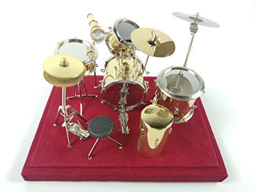Alano Minirature Golden Drum Kit Set Ornament Music Musical...