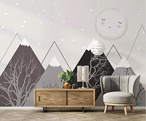 Batian Mural Handbemalter geometrischer Berg der Karikatur, Selbstklebende 3D Kind Wandbilder Wandbilder in mehreren Größen, nicht gewebter Stoff Material, Kunst-Abziehbilder Wandplakat Haup 400*280CM