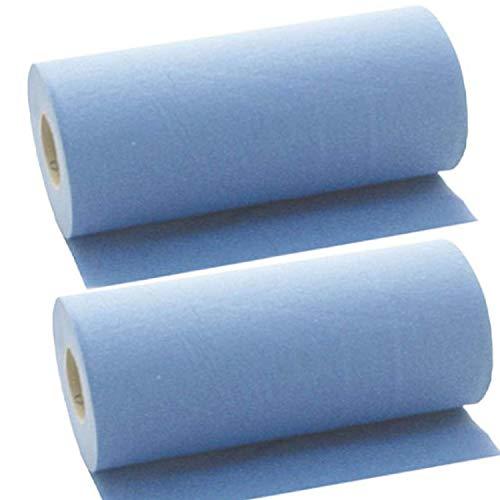 2 x Simply Direct Rotoli Massaggio Letto Blu 2 Strati. Rotolo Igiene. 24cm Larghezza x 50 Metri Lunghezza