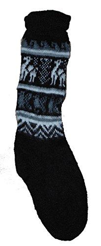 Fair Trade Unisex bolivianischen weiche Alpaka Woollen Wollsocken Größe 4-9 für einen Mann oder eine ...