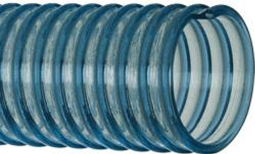 Kanaflex 200SFG-1 Flexible PVC Food Grade Suction and Discharge Hose, Blue/Clear, 1