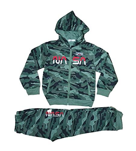 Generic Jungen Camouflage Jogginganzug Trainingsanzug Sportanzug Jacke Hose Kombi Set (Rot, numeric_122)