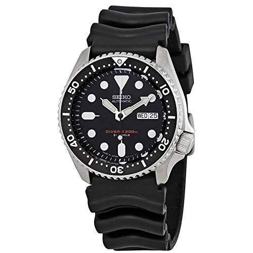 Relógio de mergulho Seiko SKX007J1 analógico japonês automático preto de borracha