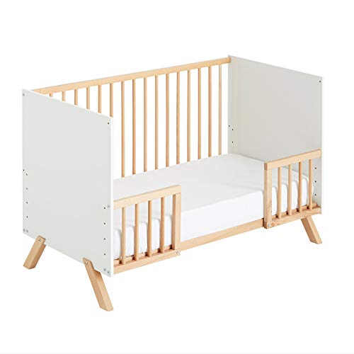 Cuna colecho Umami 120x60 + kit colecho + barandillas para convertir la cuna en cama