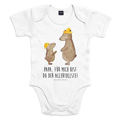 Mr. & Mrs. Panda Strampler, Babysuit, 3-6 Monate Baby Body Bären mit Hut mit Spruch - Farbe Transparent