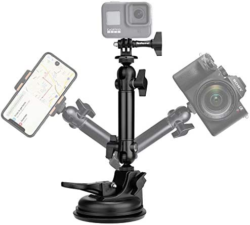 Action Camera Smartphone Vacuum Suction Cup Mount Motion Camcorder Race Car Cab Cockpit Mounts product image