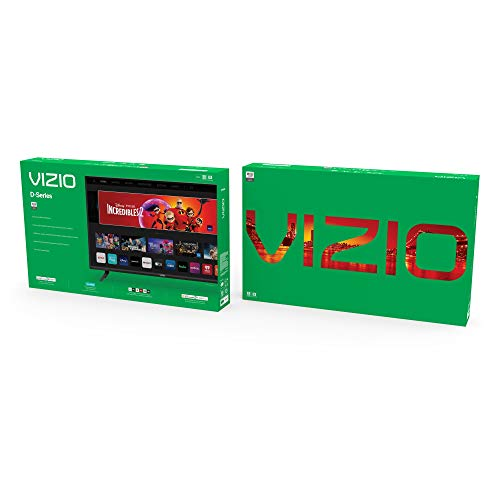 VIZIO 24-Inch D-Series LED HDTV with Apple AirPlay and Chromecast Built in Screen Mirroring for Second Screens,
