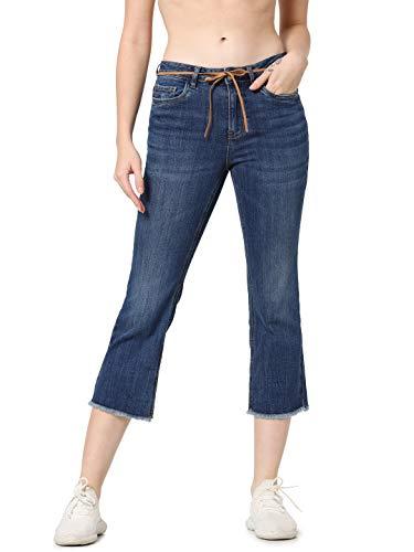 ONLY Damen Flared Jeans ONLKenya Mid Sweet Cropped 2832Dark Blue Denim