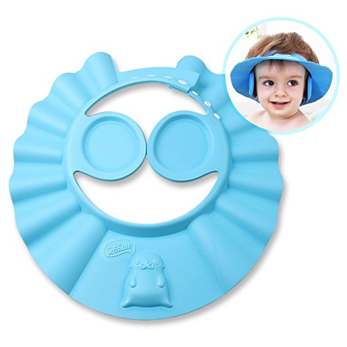 IREGRO Verstellbarer Shampoo Schutz Duschhaube Kinder Badekappe, Baby Badekappe Bade Schutz Kopf Dusche Wasser Abdeckung