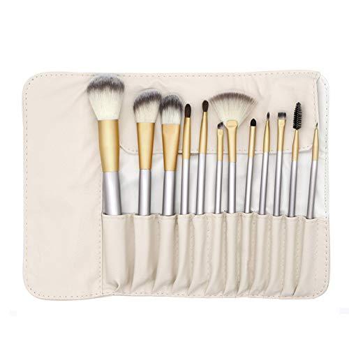 Professional Make Up Brushes Set, Makeup Brushes, Cosmetic Brush Sets, Makeup Brush Foundation Eye Shadows Eyebrow Powder Brushes Tool Bag (12pcs)