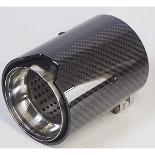 KPLDEKLC Car Exhaust Pipe 60-70mm Carbon Fiber Exhaust Tips Muffler Pipe,for BMW M2 F87 M3 F80 M4 F82 F83 M5 F10 m6 F12 F13