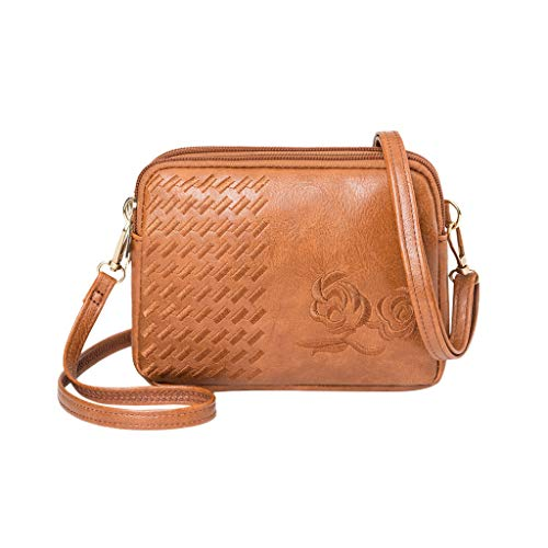 Darringls Borse a Spalla Donna Borsa a Tracolla Crossbody 2021 Nuovo Zaino antifurto Elegante Wild Zipper Embroidery Crossbody Messenger Shoulder Bag