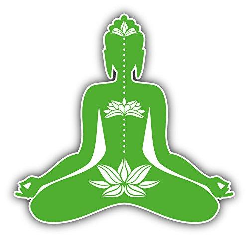 Buddha Meditating Hochwertigen Auto-Autoaufkleber 12 x 12 cm