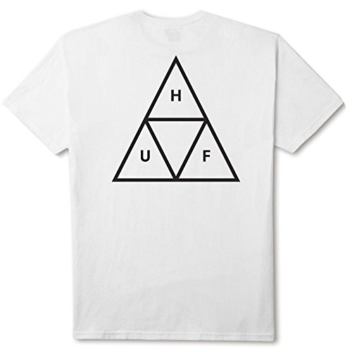 HUF T-shirt triangle blanc XL