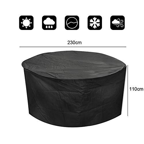 Vinteky Multifuncional, Práctico, Resistente, Impermeable Cubierta Protectora de Muebles al exterior, Funda para los mesas/ sillas del jardín al aire libre