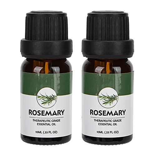 Aceite esencial de masaje, aceites de aromaterapia naturales para hombres y mujeres, aceite corporal hidratante para pieles secas, cuidado eficaz del sueño, 10 ml(Romero)
